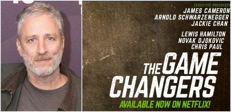 Jon Stewart Hosts Game Changers Screening Promoting Vegan Diet Jon Stewart Vegan Diet What Is Positive