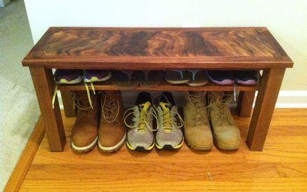 Hawaiian Entry Bench & Shoe Rack