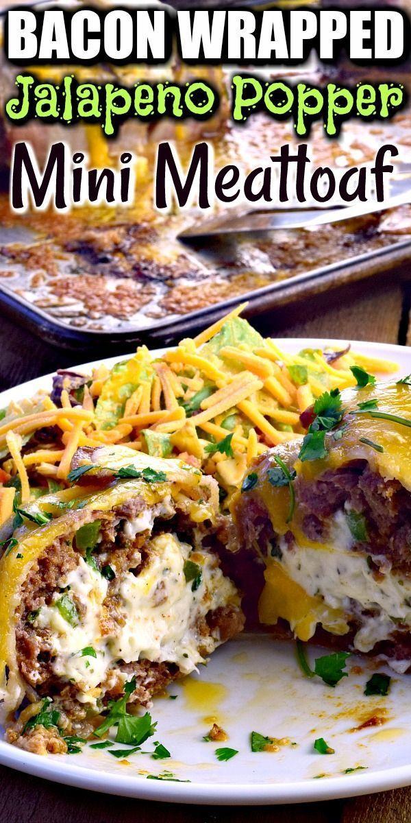 Jalapeno Popper Mini Meatloaves In 2020 Keto Beef Recipes Ground Beef Keto Recipes Mini Meatloaf Recipes