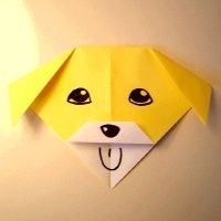 An origami dog that's easy enough for kids to make