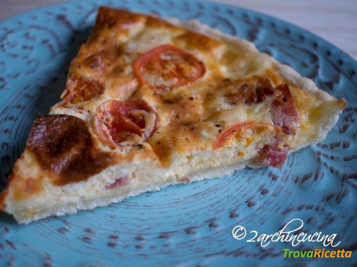 Quiche con salame, asiago e pomodorini – Ricetta facile  #ricette #food #recipes