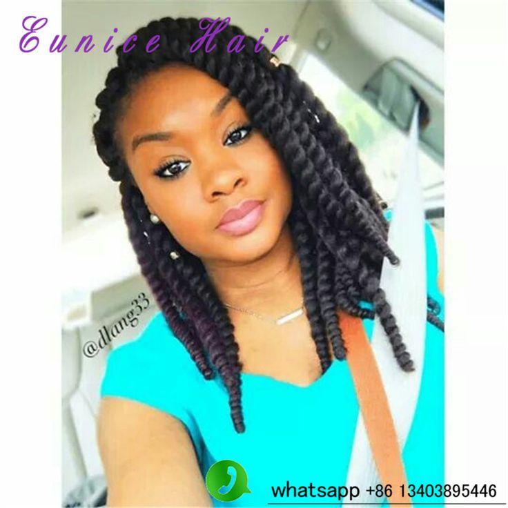 Curly Hair Crochet Styles : Cheap twist fake hair bundles african braiding curly crochet