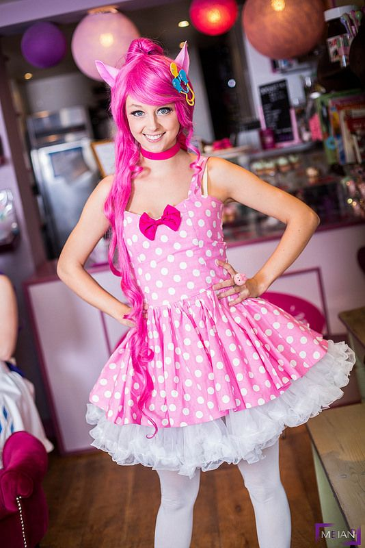My Little Pony Misscupcake #2014 I'd have this, but with yellow and blue petticoats beneath... and the cutie mark on the dress instead of the wig