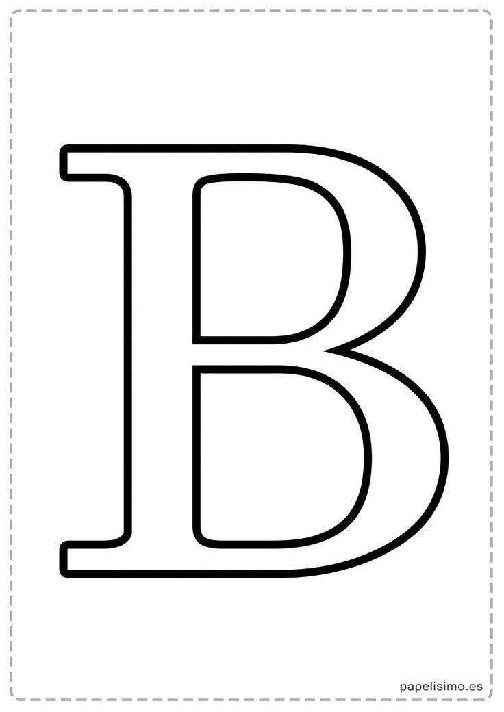 B Abecedario letras grandes imprimir mayúsculas