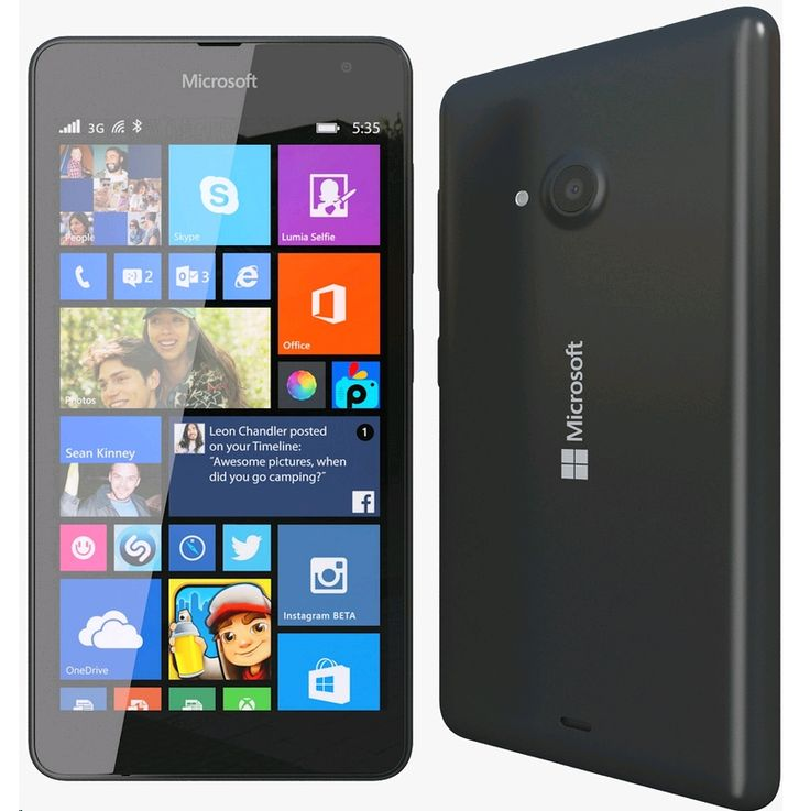 The Lumia 535, featuring a wide-angle lens, fit more in your selfies and Skype video calls with the 5 MP front-facing camera. Get all the benefits of Skype, Cortana, Office and OneDrive included as part of the latest and greatest Windows Phone experience, at an affordable price.