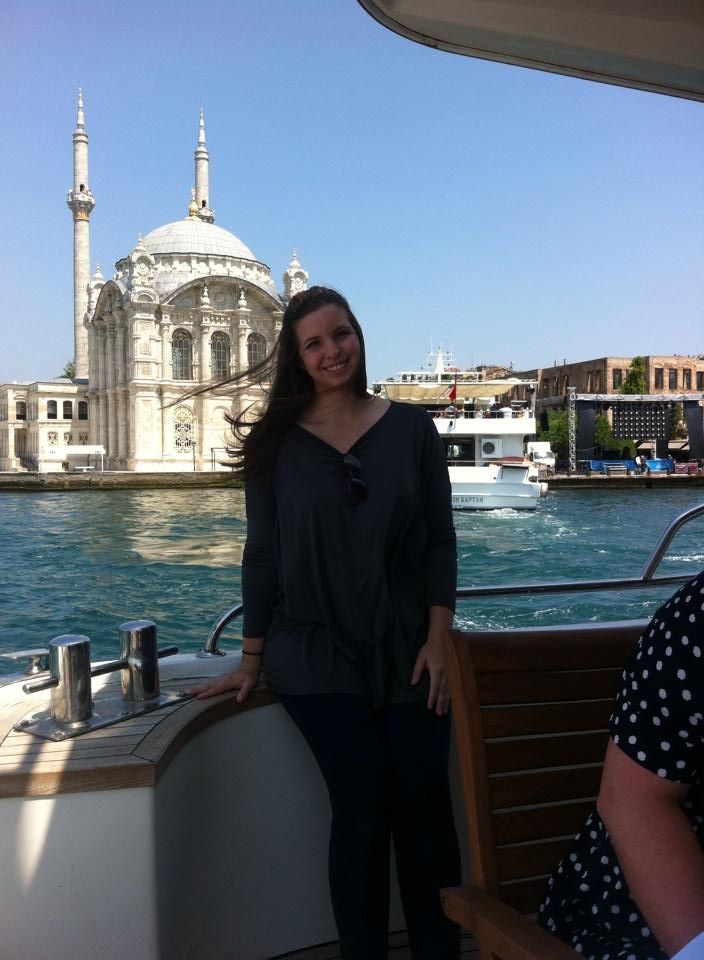Me on a private yatch tour of Istanbul on the Bosphorus Sea