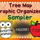 #sharethewealth #aneducatorslife Try it before you buy it! This is a sampler of 2 tree map graphic organizer packs - fall and nocturnal animals. Included in this free sample are 2 differentiated graphic organizers for fall and bats.   The full packs include differentiated graphic organizers for 5 fall topics and 4 nocturnal animals.