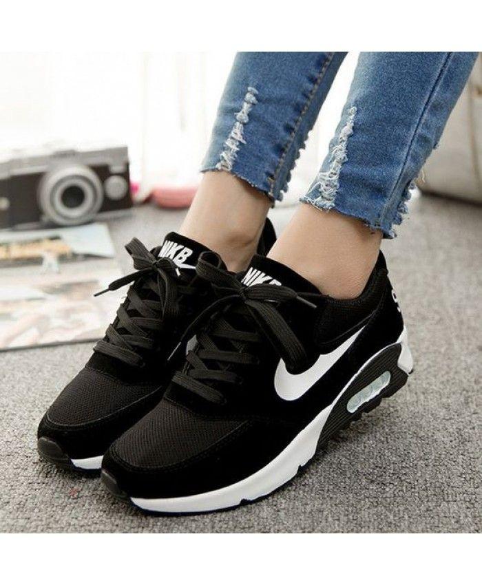 55dacb128 Nike Air Max 90 Black White Trainers Black Friday Sale
