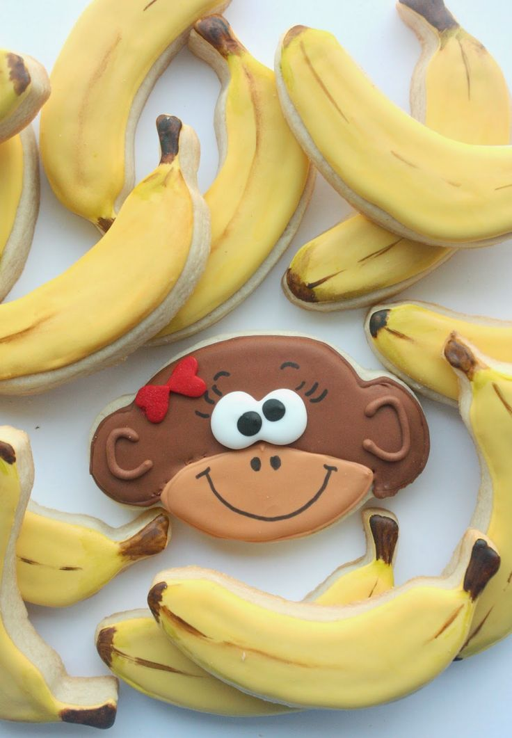 """I'm bananas for you!"" Monkey and Banana Cookies"