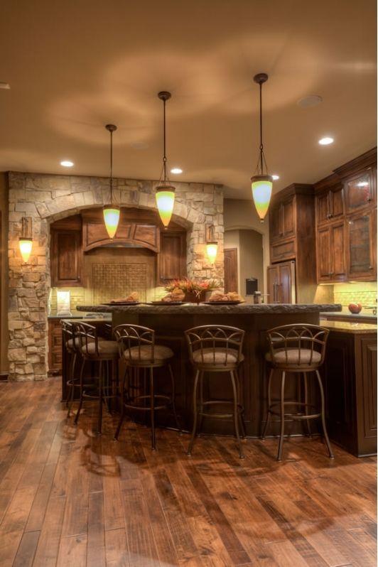 unique kitchen design with breakfast bar