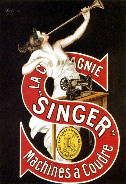 Singer Vintage Sewing Machine Poster