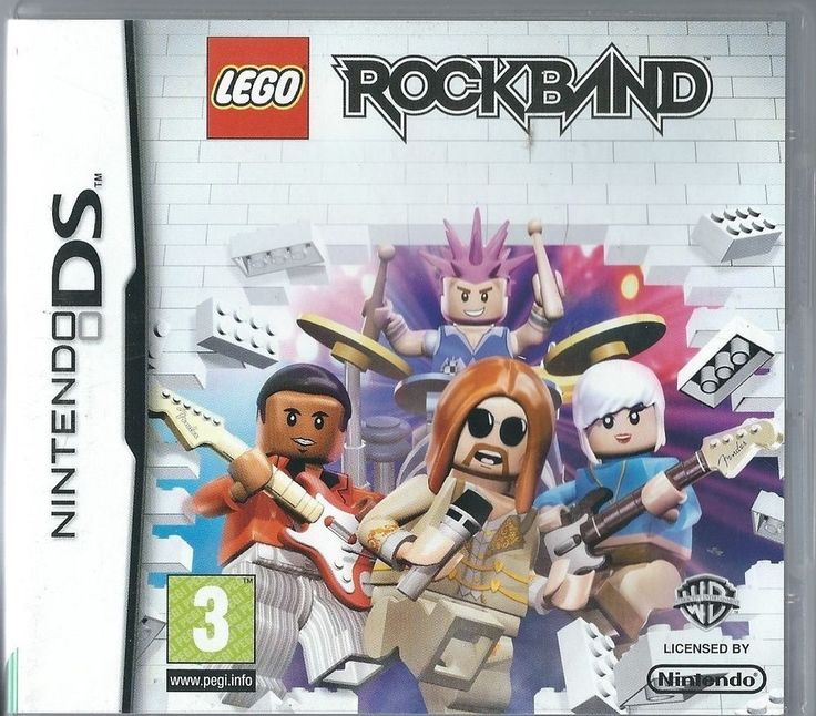 Nintendo DS LEGO Rock Band (plays 3ds in 2D)