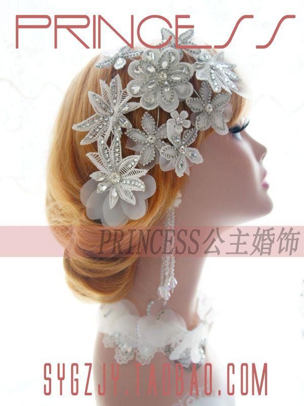 Новый кружева ручной свадебный головной убор Корея гнущиеся цветы свадебные аксессуары для волос Свадебные аксессуары Ювелирные изделия Камелия - Taobao