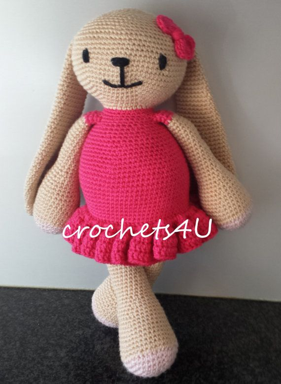 crochet pattern bunny girl with dress / direct by Crochets4U