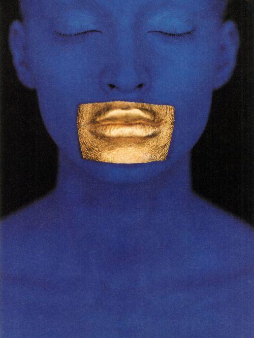 Blue Klein, Vogue Paris          photography eric traoré stylist delphine treanton make-up topolino        Fashion Images de Mode Nº3 (1998) #NYFW