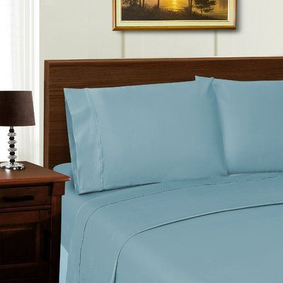 The Twillery Co. Cullen 1000 Thread Count Sheet Set Color: Blue, Size: California King
