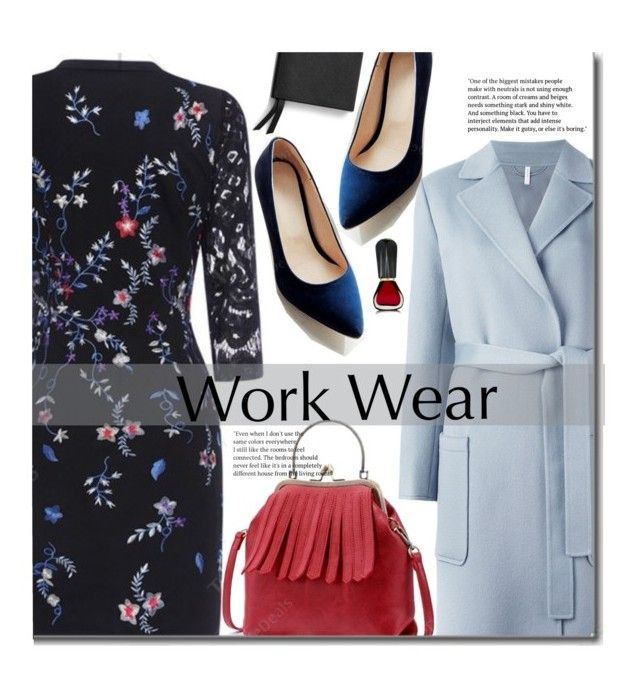 """""""Work Wear"""" by beebeely-look ❤ liked on Polyvore featuring Helmut Lang, Smythson, Oribe, vintage, WorkWear, dress, floralprint, streetwear and twinkledeals"""