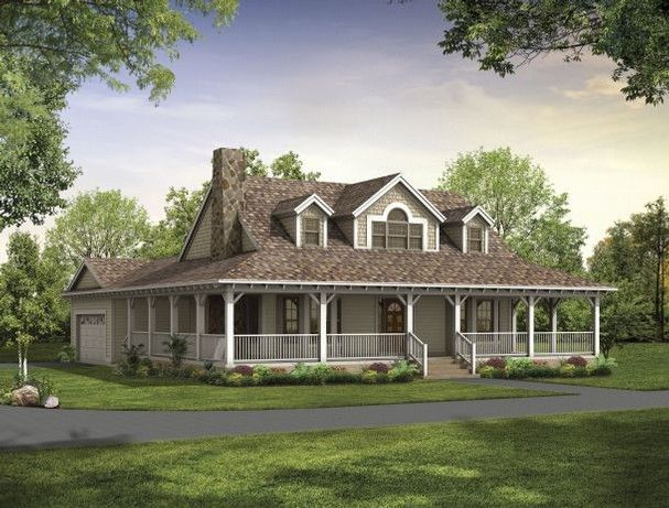 Ranch Style House Plans with Porches | Hanley Wood Home Plans shows House of the Week HMAFAPW00914. This home ...