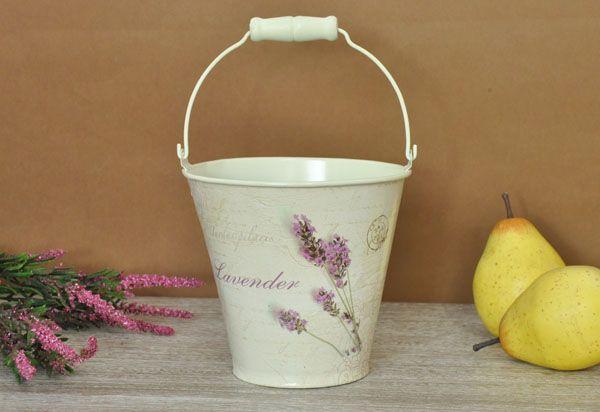 Malownicze wiaderko zdobione motywem lawendowym / Romantic Bucket cover on the pot Provence