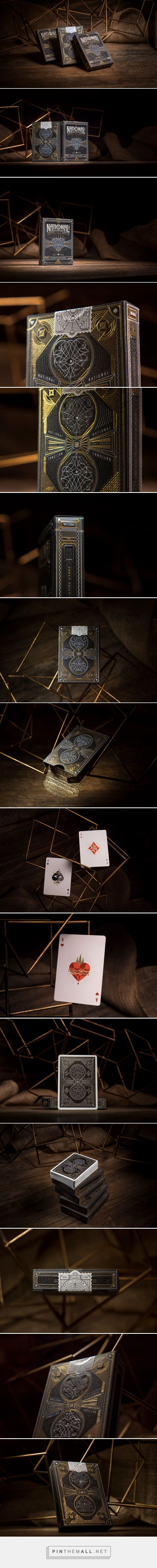 National Playing Cards packaging design by Harold Apples - http://www.packagingoftheworld.com/2017/04/national-playing-cards.html