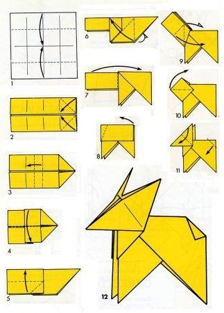 Istruzioni origami cane