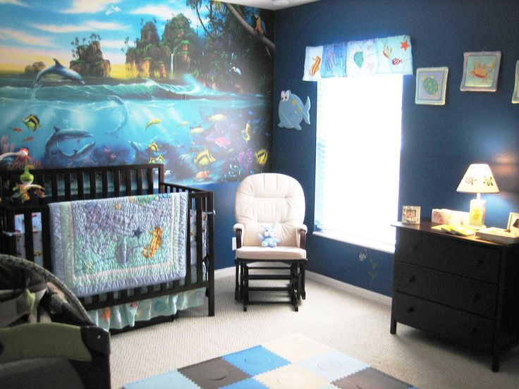3d Wallpaper For Living Room Wall Under The Sea Ocean Themed Nursery With Wall Sized Coral