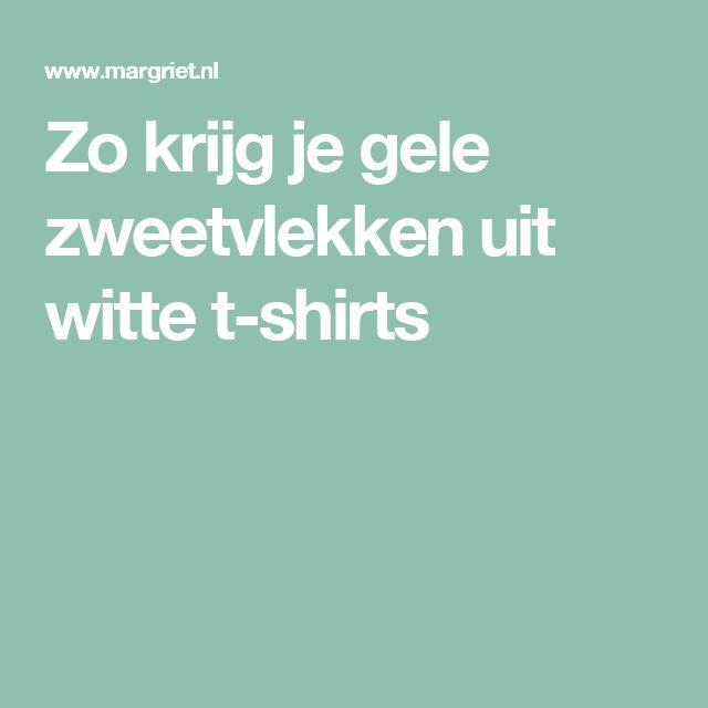 Zo krijg je gele zweetvlekken uit witte t-shirts