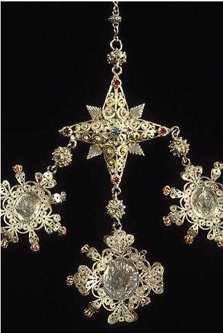 Terminale di antico rosario sardo,in filigrana d'argento.#sardinia.
