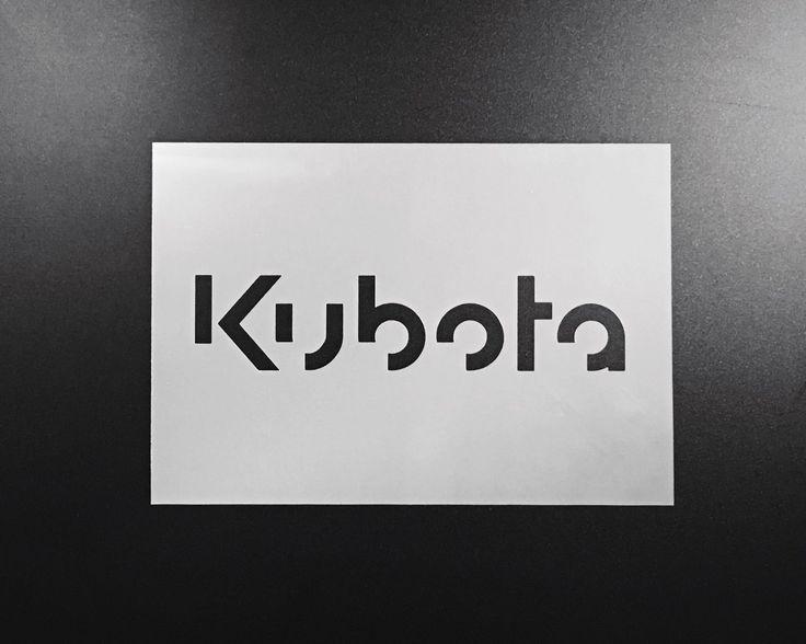 Kubota Tractor Equipment Stencil Airbrush Wall Art Craft Painting DIY Reusable   eBay