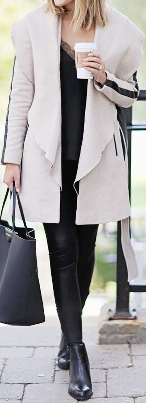Coat: River Island c/o | Leggings: River Island | Boots: River Island c/o | Cami (Similar) | Bag: Givenchy