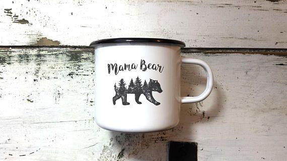 MAMA BEAR MUG Enamel Mug Mom Mug Mothers Mug New Mom Mug