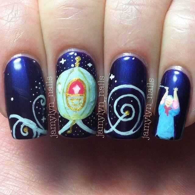 Love love love Cinderella! Great theme - cinderella by jamylyn_nails  #nail #nails #nailart