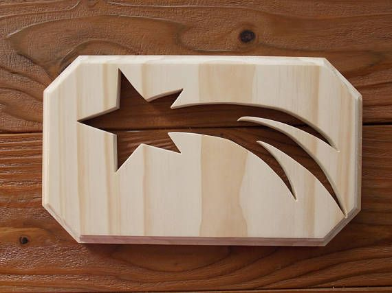 Shooting Star Unfinished DIY Holzdekoration