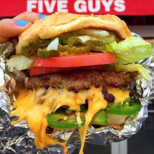 Five Guys Burgers! YUM! Mmmmhmmm!  :D  <3