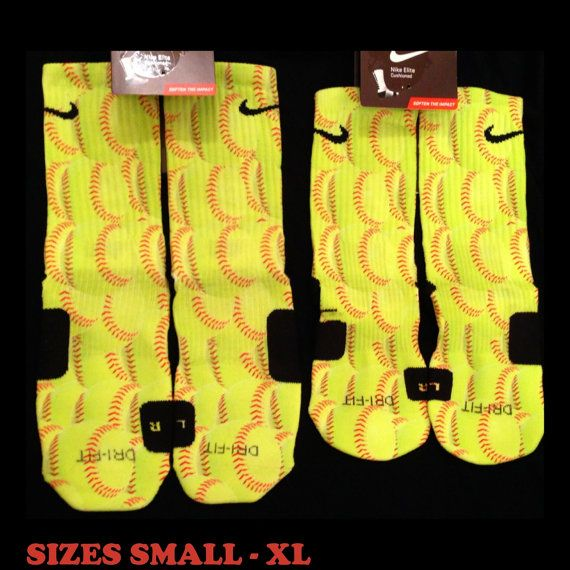 Softball Custom Nike Elites by SickestSockCreations on Etsy