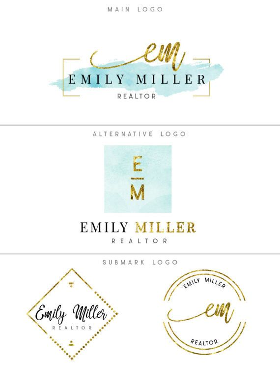 Logo and branding, Premade luxury branding package, Sky blue & gold premade logo kit, Realtor logo, Photography logo, Blog logo, Watercolor  ♥♥♥♥♥♥ LIMITED TIME OFFER - TRY BEFORE YOU BUY! ♥♥♥♥♥♥ Are you unsure how the logo will look with your name and tagline? You can get a FREE preview! Just send me your business name and tagline and I will send you a JPG preview within 1 business day FOR FREE! Please include the link to the premade logo in my shop that you would like to preview. To see...