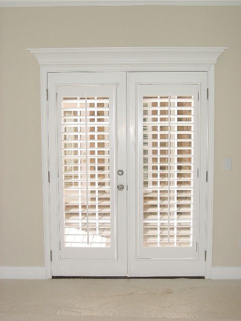 Image result for plantation shutters on french doors