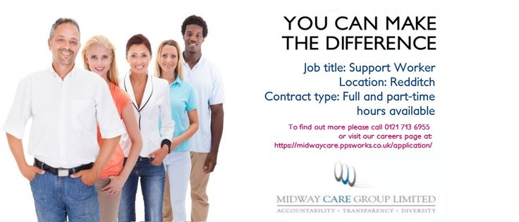 SUPPORT WORKERS IN REDDITCH REQUIRED Experience with challenging behaviour preferred £7.50/ph Full time To apply please call 01217136955 Or visit midwaycare.ppsworks.co.uk #redditchjobs #carejobs #jobsinbirmingham #redditch #socialcare #supportworker #care #careindustry