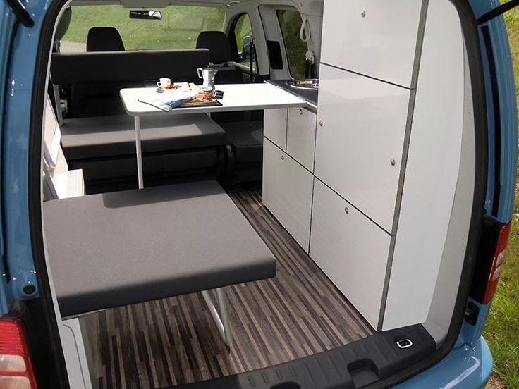 Camp Maxi auf Volkswagen Caddy - Klick aufs Bild öffnet Großansicht