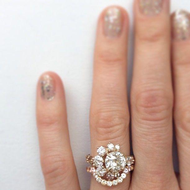 mocium custom diamond ring and wedding band