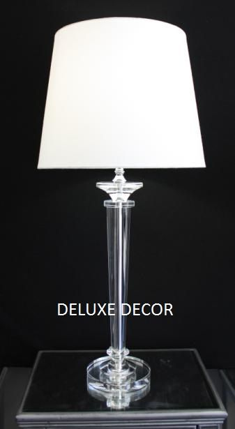 Modern Stylish Crystal Glass Table Bedside Lamp Base 9411 DW http://deluxedecor.com.au/products-page/table-lamps/modern-stylish-crystal-glass-table-bedside-lamp-base-9411-dw/