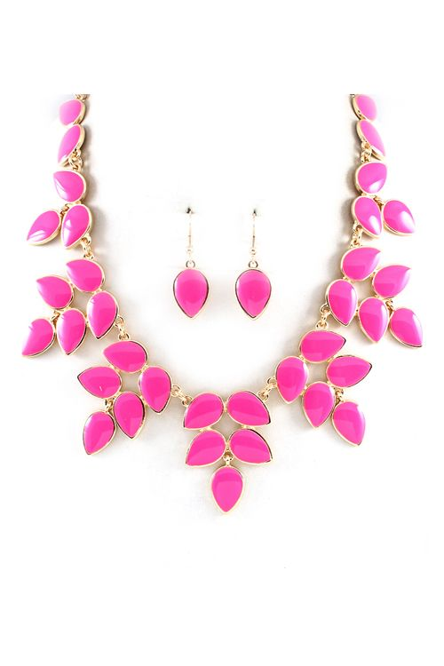 Mia Necklace in Fuchsia on Emma Stine Limited $58