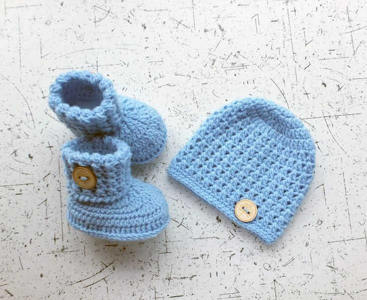 Baby hat and booties - Hat and booties set - Crochet baby clothes - Baby gift set - Baby Boy clothes - Newborn set - Baby boy gift by HandmadebyInese on Etsy