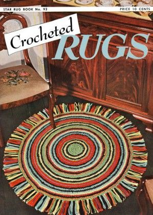 Crocheted Rugs Vintage Patterns Book for download