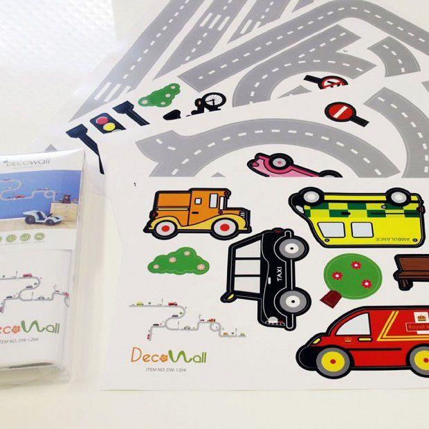 Elegant Details zu Wandsticker Wandpuzzle Wandtattoo Autobahn Stra en Autos Kinderzimmer Jungen