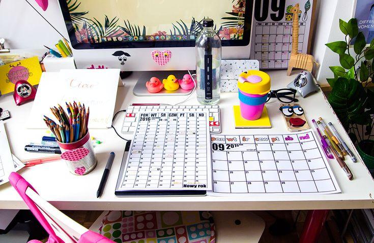 workspace, desk, homeoffice, planner, calendar, organizer, keepcup, coffee, mug, blogger, photo: Zenja Blog