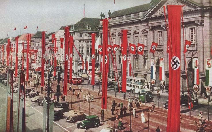 Berlin adorned for the 1936 Olympics