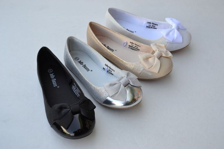 JB-xiro New Girl Ballet Flat Glitter Sequin Cap Toe Bow Decor Shoes Size 11~4  #Jellybeans #BalletFlats