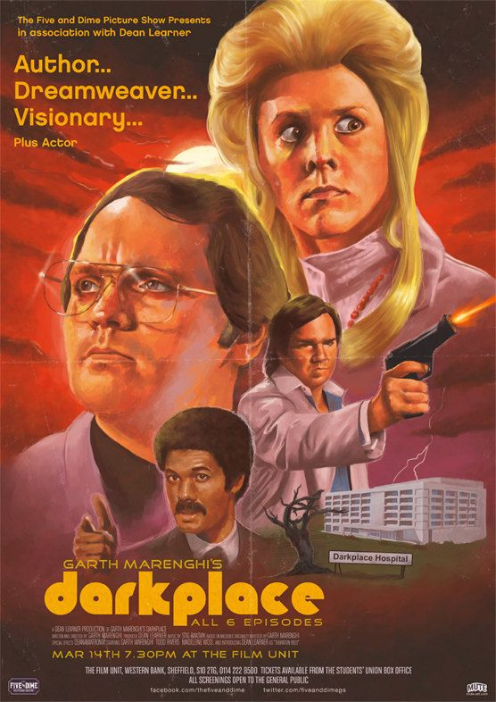 Garth Marenghi's Darkplace Print - Oh my god it has my birthday on it!!!!!!!!!!!!!!!!!!!!!!!!!!!!!!  American like and all! UPDATE: I totally bought it as a job-warming present. Not that that is something people do, or that I'm going to take it to work, but just to commemorate the fact I now have a job. Have you ever seen this show? It is one of my favorites and in my opinion it gets funnier each subsequent viewing.