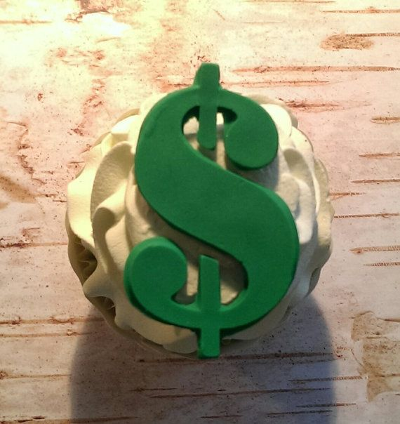 Money Dollar Sign Fondant Cupcake Cake Cookie Toppers
